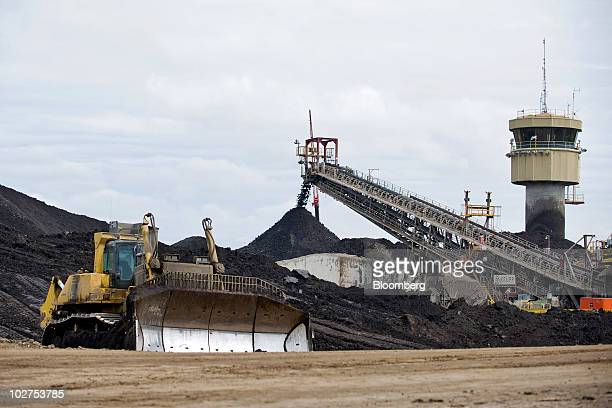 Mining operations continue at Syncrude Canada Ltd's oil sands North Mine in Fort McMurray Alberta Canada on Tuesday June 29 2010 The Syncrude Project...