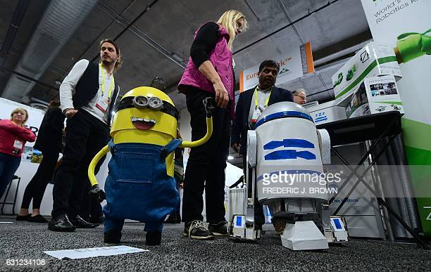Minion and R2D2 examples of what can be done with the Ziroio robotic modules from Zero Ui which enables freeform robotics constuction with their...