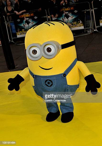 A Minion attends the UK Premiere for 'Despicable Me' at The Empire Cinema Leicester Square on October 11 2010 in London England