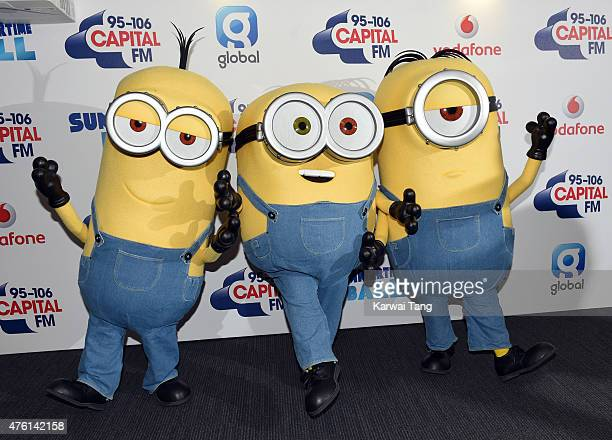 Minions attend the Capital FM Summertime Ball at Wembley Stadium on June 6 2015 in London England