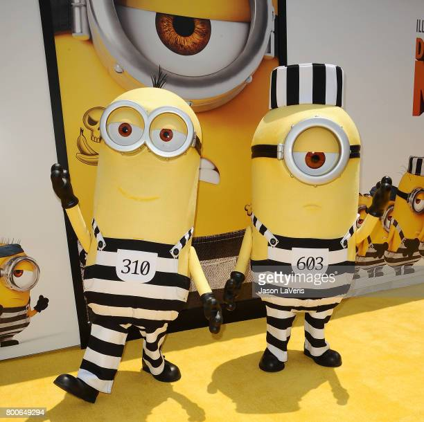Minions attend the premiere of 'Despicable Me 3' at The Shrine Auditorium on June 24 2017 in Los Angeles California