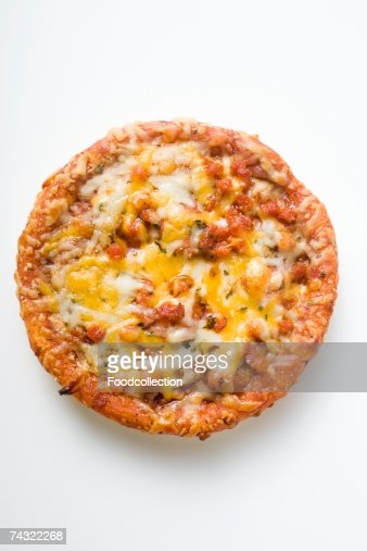 Mini-pizza with mince and cheese : Stock Photo