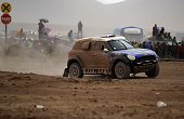 Mini's driver Krzysztof Holowczyc of Poland and Xavier Panseri of France compete during the Stage 7 of the Dakar 2015 between Iquique in Chile and...