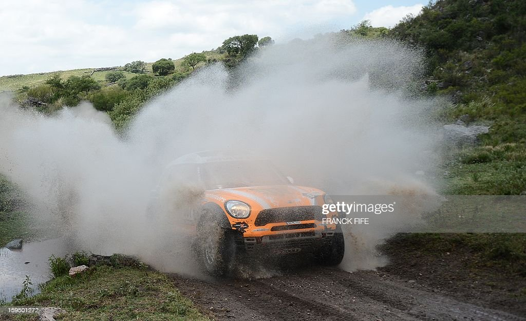 Mini's driver Leonid Nivitskiy of Russia competes during the Stage 9 of the Dakar 2013 between Tucuman and Cordoba, Argentina, on January 14, 2013. The rally takes place in Peru, Argentina and Chile from January 5 to 20.