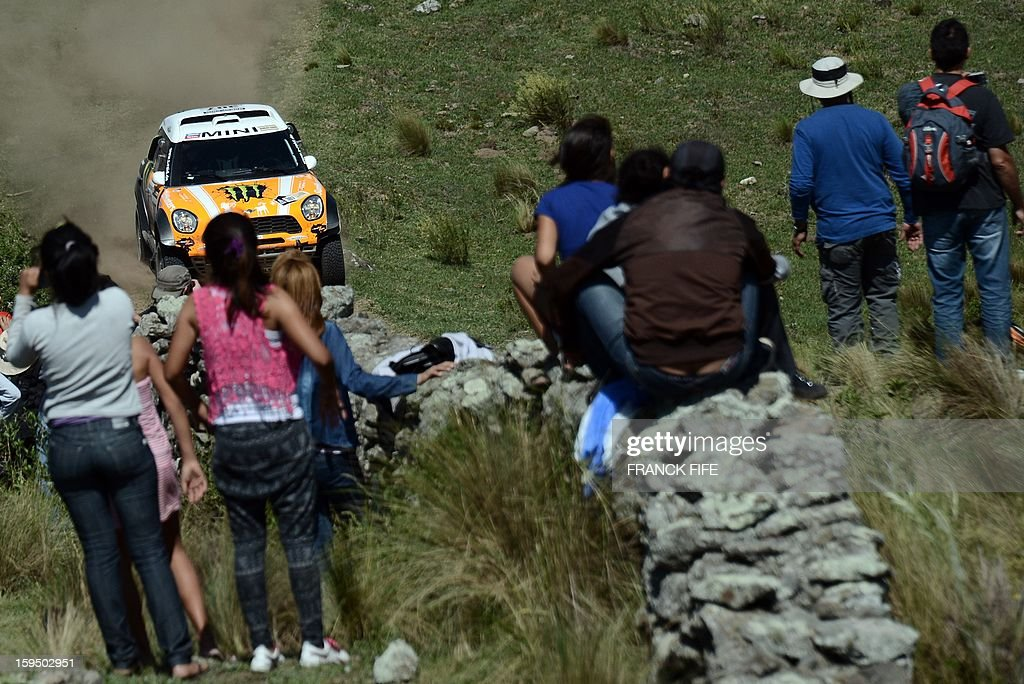 Mini's driver Leonid Novitskiy of Russia competes during the Stage 9 of the Dakar 2013 between Tucuman and Cordoba, Argentina, on January 14, 2013. The rally takes place in Peru, Argentina and Chile between January 5 and 20.