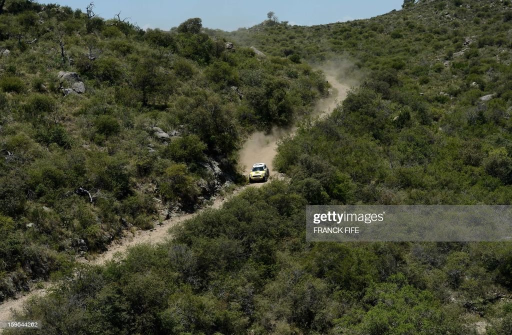 Mini's driver Nani Joan Roma of Spain competes during the Stage 10 of the Dakar 2013 between Cordoba and La Rioja, Argentina, on January 15, 2013. The rally takes place in Peru, Argentina and Chile between January 5 and 20.
