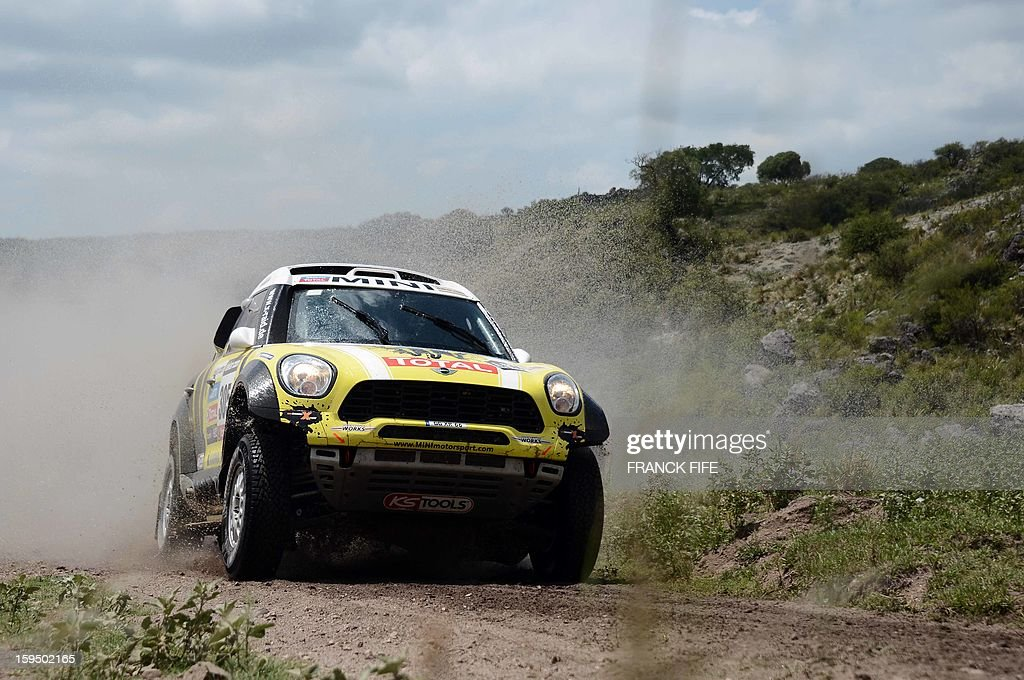 Mini's driver Nani Roma of Spain competes during the Stage 9 of the Dakar 2013 between Tucuman and Cordoba, Argentina, on January 14, 2013. The rally takes place in Peru, Argentina and Chile from January 5 to 20.