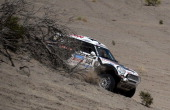 Mini's driver Nasser AlAttiyah of Qatar competes during the Stage 5 of the Dakar 2014 between Chilecito and Tucuman Argentina on January 9 2014 AFP...