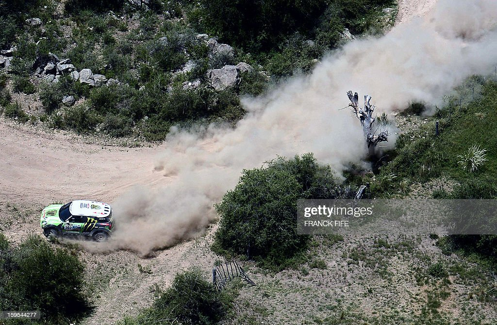 Mini's driver Stephane Perterhansel of France competes during the Stage 10 of the Dakar 2013 between Cordoba and La Rioja, Argentina, on January 15, 2013. The rally takes place in Peru, Argentina and Chile between January 5 and 20.