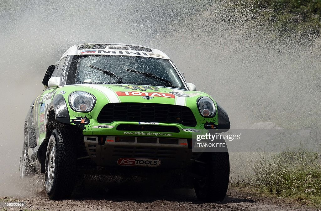Mini's driver Stephane Perterhansel of France competes during the Stage 9 of the Dakar 2013 between Tucuman and Cordoba, Argentina, on January 14, 2013. The rally takes place in Peru, Argentina and Chile from January 5 to 20.