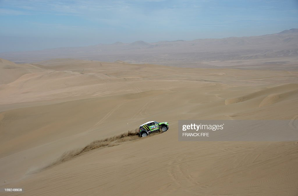 Mini's driver Stephane Perterhansel of France rides during the Stage 6 of the Dakar 2013 between Arica and Calama, Chile, on January 10, 2013. The rally takes place in Peru, Argentina and Chile from January 5 to 20.