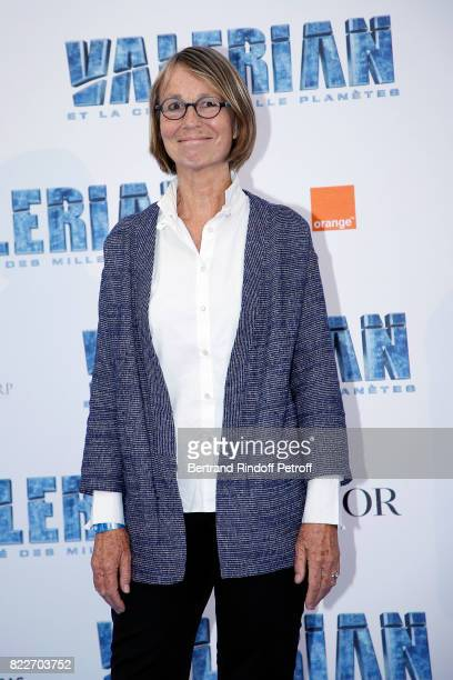 Miniser of Culture Francoise Nyssen attends 'Valerian et la Cite des Mille Planetes' Paris premiere at La Cite Du Cinema on July 25 2017 in...