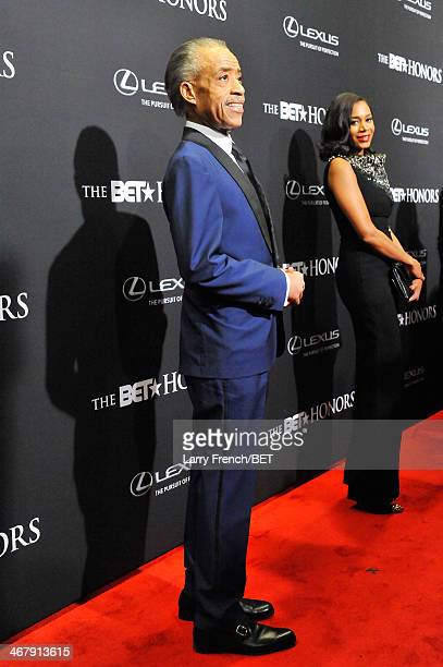 Minister Al Sharpton and stylist Aisha McShaw attend BET Honors 2014 at Warner Theatre on February 8 2014 in Washington DC