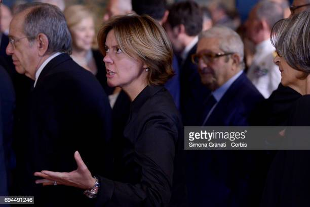Minister Beatrice Lorenzin during the visit of Pope Francis to the Quirinale on June 10 2017 in Rome Italy