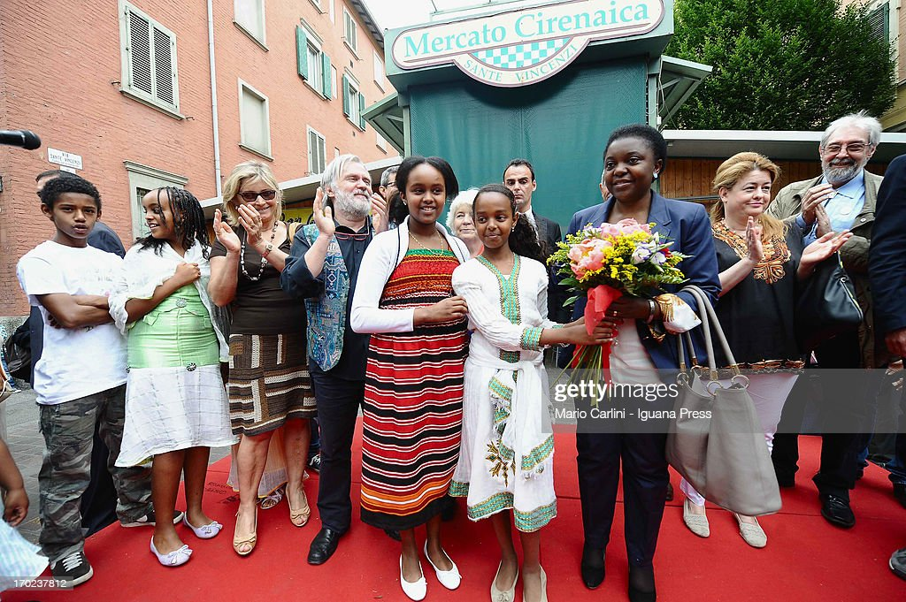 Minister Cecile Kienge attends the celebration of the 100th anniversary of Cirenaica Neighborhood on June 9, 2013 in Bologna, Italy.