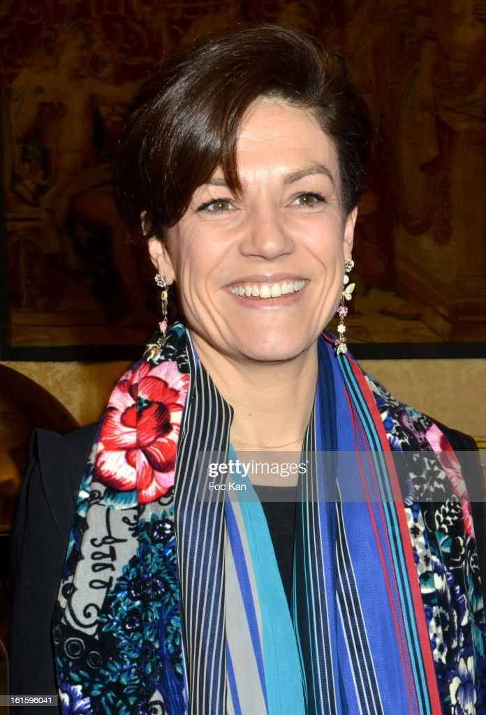 Minister Chantal Jouanno attends the Rallye Aicha des Gazelles du Maroc' 2013 - Press Conference at Palais du Luxembourg on February 12, 2013 in Paris, France.