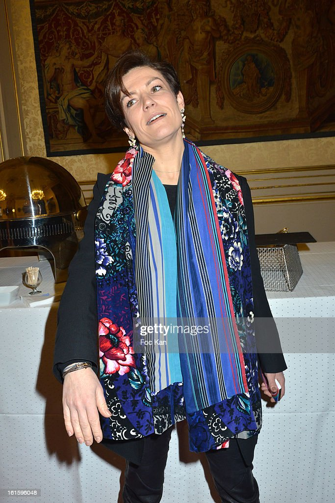 Minister <a gi-track='captionPersonalityLinkClicked' href=/galleries/search?phrase=Chantal+Jouanno&family=editorial&specificpeople=5673060 ng-click='$event.stopPropagation()'>Chantal Jouanno</a> attends the Rallye Aicha des Gazelles du Maroc' 2013 - Press Conference at Palais du Luxembourg on February 12, 2013 in Paris, France.