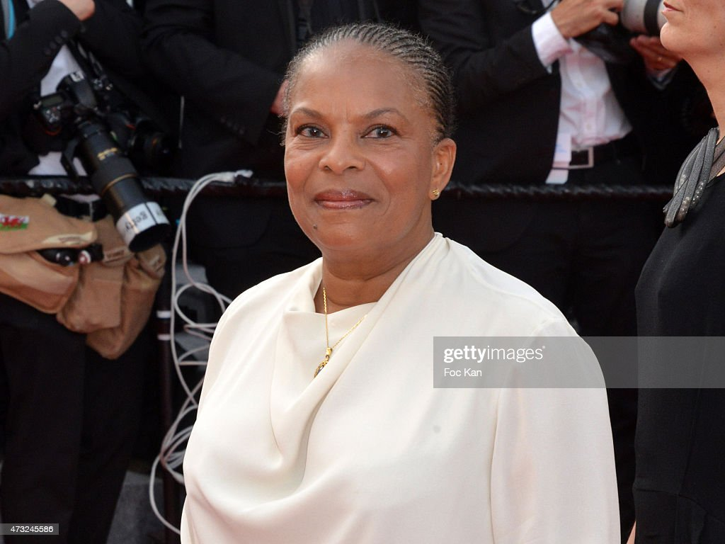Minister Christiane Taubira attends the opening ceremony and premiere of 'La Tete Haute ('Standing Tall') during the 68th annual Cannes Film Festival on May 13, 2015 in Cannes, France.