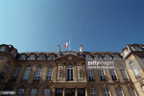 Minister council at the Elysee In Paris France On July 17 2002 Elysee palace