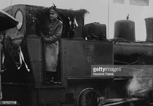 Minister Dr Todt Giving The Signal For The Start Of Work Of The Railway Vogellinie From Germany To Denmark In Germany On February 9Th 1942