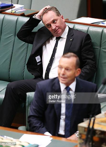 Minister for Agriculture Barnaby Joyce during House of Representatives question time at Parliament House on May 12 2015 in Canberra Australia The...