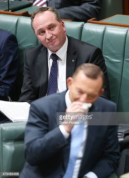 Minister for Agriculture Barnaby Joyce during House of Representatives question time at Parliament House on June 1 2015 in Canberra Australia