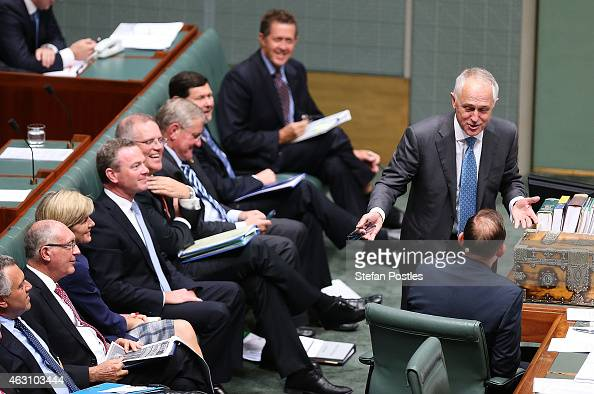 Minister for Communications Malcolm Turnbull speaks during House of Representatives question time at Parliament House on February 10 2015 in Canberra...