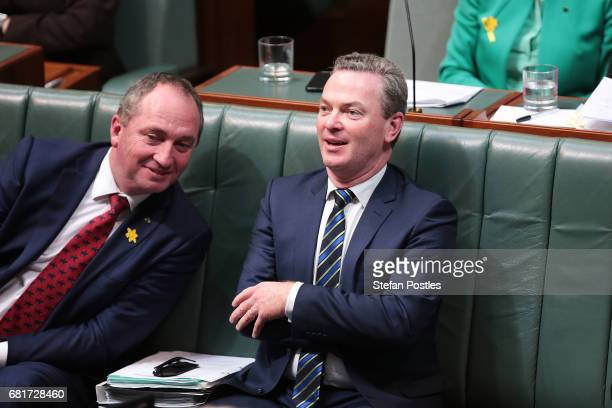 Minister for Defence Christopher Pyne during House of Representatives question time at Parliament House on May 11 2017 in Canberra Australia The...