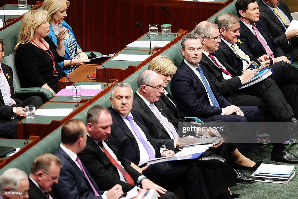 Minister for Education and Training Christopher Pyne during House of Representatives question time at Parliament House on September 15 2015 in...