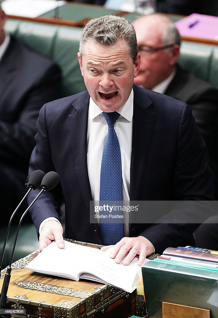 Minister for Education and Training Christopher Pyne during House of Representatives question time at Parliament House on September 15, 2015 in Canberra, Australia. Malcolm Turnbull will become the 29th Prime Minister of Australia after he defeated Tony Abbott 54 votes to 44 in a snap leadership ballot on Monday night. Julie Bishop remains deputy leader of the Liberal party following the spill.