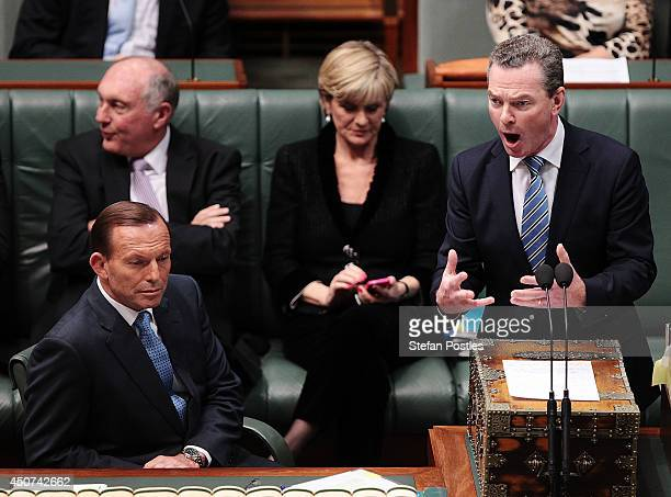 Minister for Education Christopher Pyne during the house of representatives Question time on June 17 2014 in Canberra Australia News today broke that...