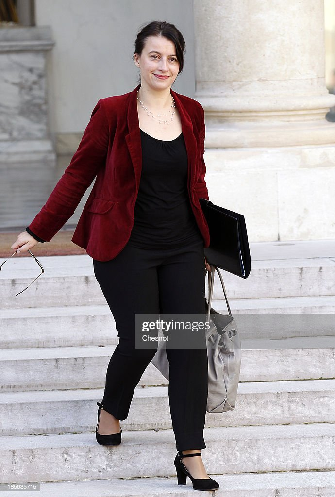 Minister for Equality of Territories and Housing, Cecile Duflot, leaves the Elysee Palace after the weekly cabinet meeting on October 23, 2013 in Paris, France.