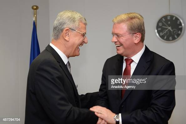 Minister for European Union Affairs and Chief Negotiator Ambassador Volkan Bozkir meets with European Commissioner for Enlargement and European...