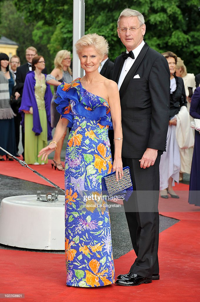 Minister for Foreign Affairs <a gi-track='captionPersonalityLinkClicked' href=/galleries/search?phrase=Carl+Bildt&family=editorial&specificpeople=3972090 ng-click='$event.stopPropagation()'>Carl Bildt</a> of Sweden attends the Government Pre-Wedding Dinner for Crown Princess Victoria of Sweden and Daniel Westling at The Eric Ericson Hall on June 18, 2010 in Stockholm, Sweden.