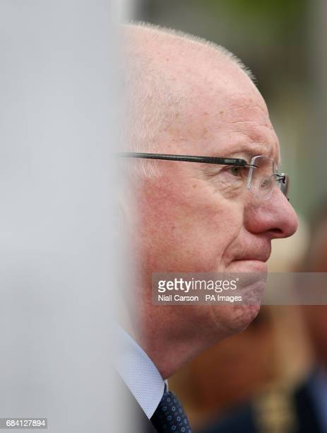 Minister for Foreign Affairs Charlie Flanagan speaking at a memorial ceremony in Dublin's Talbot Street marking the anniversary of the bombings in...