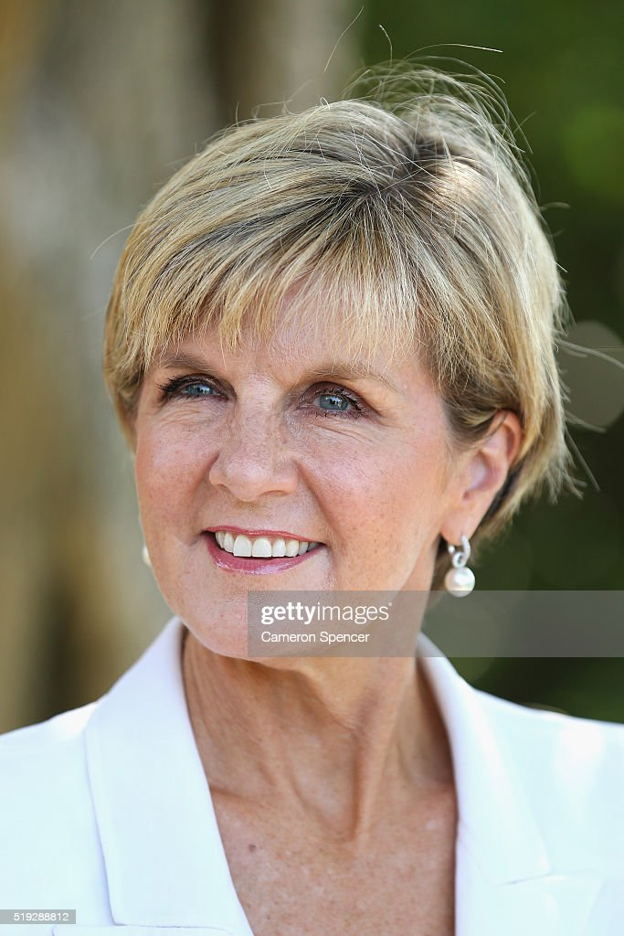 Minister for Foreign Affairs <a gi-track='captionPersonalityLinkClicked' href=/galleries/search?phrase=Julie+Bishop&family=editorial&specificpeople=1198450 ng-click='$event.stopPropagation()'>Julie Bishop</a> talks during the launch of the Cricket Australia Asian Sports Partnership Program Launch at Kirribilli House on April 6, 2016 in Sydney, Australia.