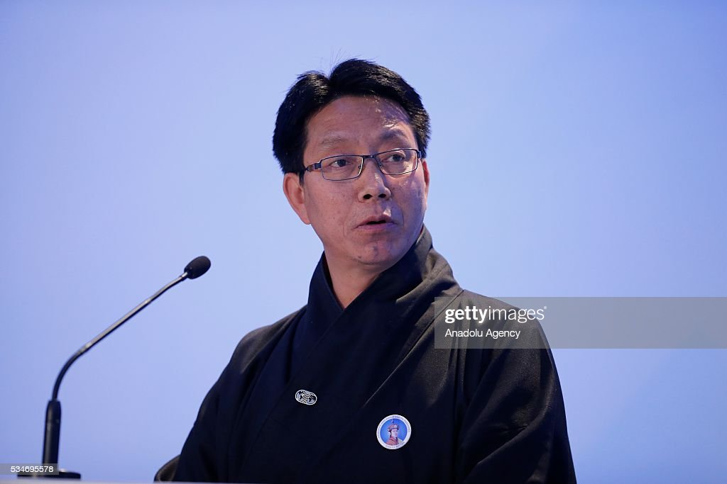 Minister for Foreign Affairs of Bhutan, Lyonpo Damcho Dorji delivers a speech during the Midterm Review of the Istanbul Programme of Action at Titanic Hotel in Antalya, Turkey on May 27, 2016. The Midterm Review conference for the Istanbul Programme of Action for the Least Developed Countries takes place in Antalya, Turkey from 27-29 May 2016. The conference will undertake a comprehensive review of the implementation of the Istanbul Programme of Action by the least developed countries (LDCs) and their development partners and likewise reaffirm the global commitment to address the special needs of the LDCs.