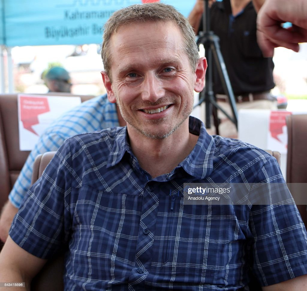 Minister for Foreign Affairs of Denmark, Kristian Jensen visits community center for Syrian refugees in Onikisubat district of Kahramanmaras, Turkey on June 28, 2016.