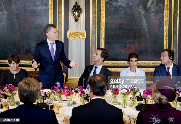 Minister for Foreign Trade and Development Cooperation of the Netherlands Lilianne Ploumen Argentine President Mauricio Macri Netherlands Prime...