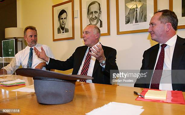 Minister for Indigenous Affairs Nigel Scullion Deputy Prime Minister Warren Truss and Minister for Agriculture and Water Resources Barnaby Joyce...