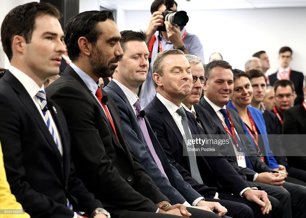 Minister for Indusrty, Innovation and Science Christopher Pyne during a town hall style discussion with Defence Industry contractors on June 27, 2016 in Adelaide, Australia. The Prime Minister opened defence contractor Raytheon's new naval and integration headquarters.