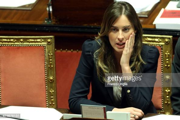 Minister for Relations with Parliament Maria Elena Boschi attends a debate ahead of a confidence vote on the government of Prime Minister Matteo...