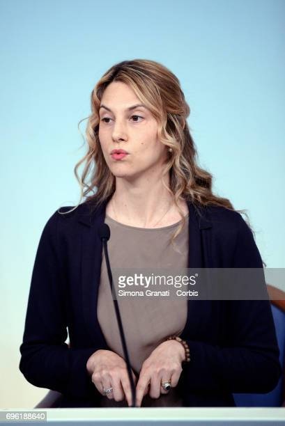 Minister for Simplification and Public Administration Marianna Madia presents the Agile Work Directive during a press conference at Palazzo Chigi on...
