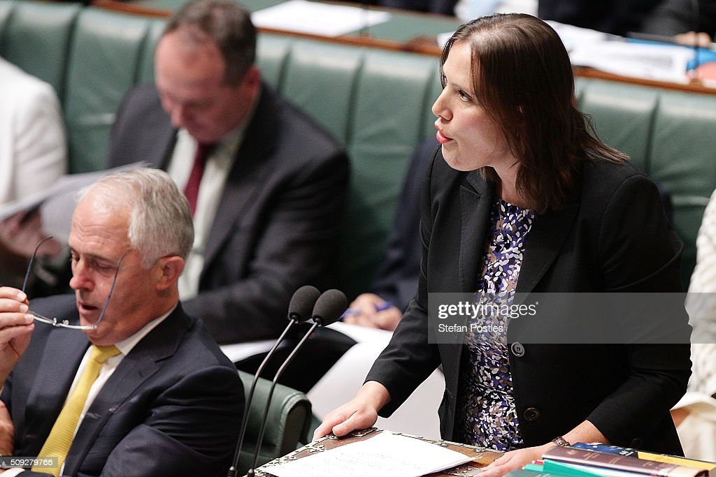 Minister for Small Business Kelly O'Dwyer during House of Representatives question time at Parliament House on February 10, 2016 in Canberra, Australia.