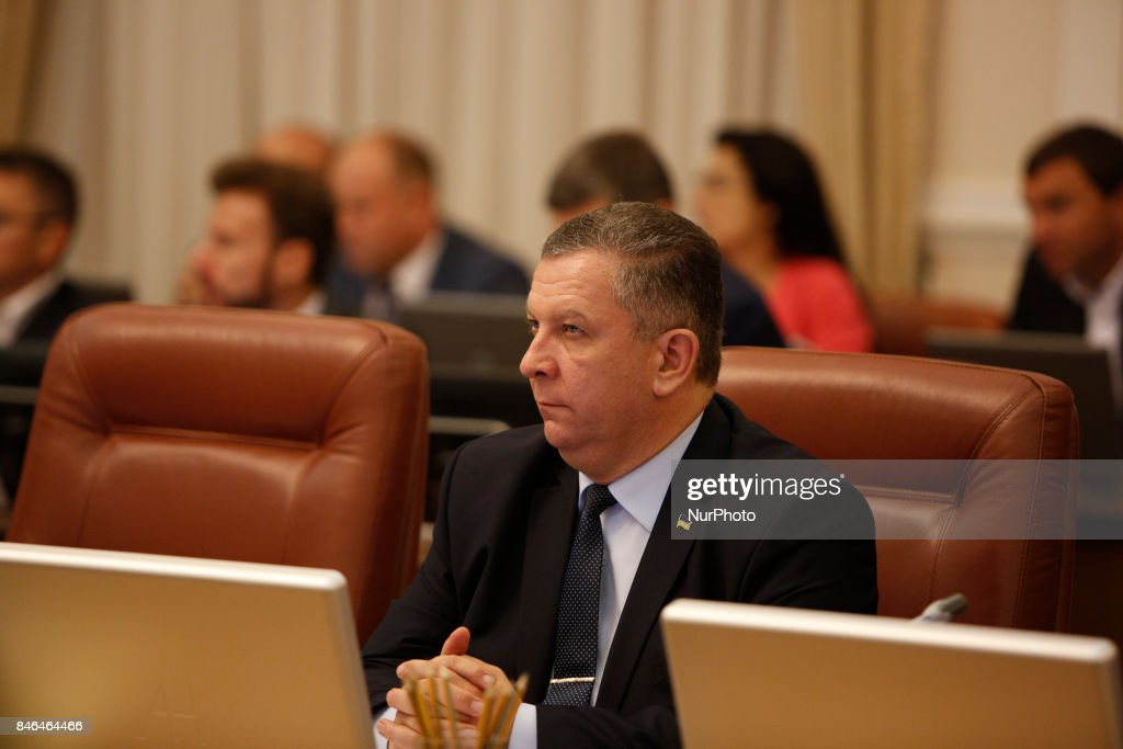 Minister for Social Policy Andrii Reva during the Ukrainian government gathered for its session in Kiev, Ukraine on September 13, 2017.