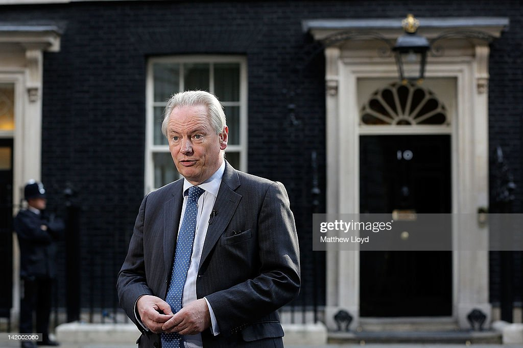 Minister for the Cabinet Office Francis Maude talks to the press about potential forthcoming fuel delivery strikes on March 28, 2012 in London, England. Fire Brigade Unions have expressed concern at his suggestion that people should keep jerry cans of petrol at home in case of shortages.