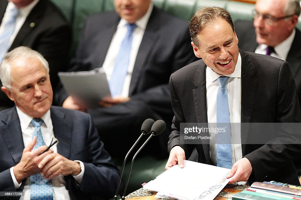 Minister for the Environment Greg Hunt during House of Representatives question time at Parliament House on September 16 2015 in Canberra Australia...