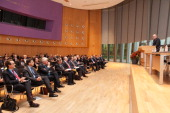 Minister Frans Timmermans speaks at the International Commission on Missing Persons on day 4 in the Peace Palace on November 1 2013 in The Hague...