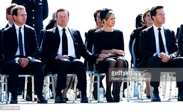 Minister Lodewijk Asscher King WillemAlexander and Queen Maxima of The Netherlands and Dutch Prime minister Mark Rutte attend a ceremony upon the...