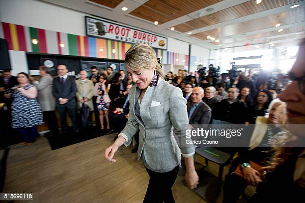 TORONTO ON MARCH Minister Melanie Joly walks to the podium for the announcement The federal heritage minister is in Toronto Monday to lift the...